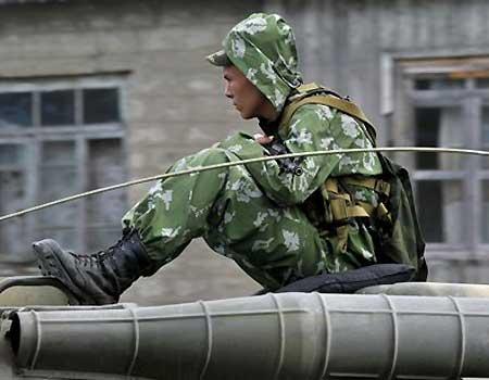 Ruský voják v Gruzii
